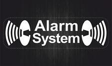 Sticker adesivi adesivo auto moto alarm system sicurezza e allarme bianco