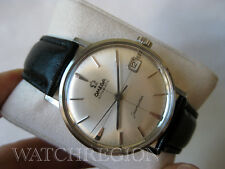 OMEGA SEAMASTER AUTO DATE WATCH 24 JEWELS 562 MOVEMENT CROSS HAIR DIAL SERVICED