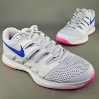 Nike Air Zoom Vapor X HC Tennis Shoes Womens Size 6 Athletic Gray Pink Blue