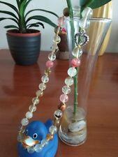 "Beautiful multicolor watermelon tourmaline gems 10mm bead necklace 18""-UK seller"