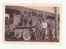 Original Foto Beutepanzer Panhard Spähwagen auf Schiene umbau Partisanbekämpfung