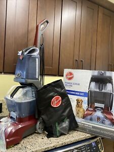 Hoover Power Scrub Deluxe Red Upright Vacuum Cleaner (FH50150) With Accessories