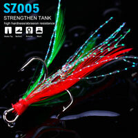 20Pcs Black Treble Fishing Hook with Feather for Minnow Fishing Lures Crankbaits