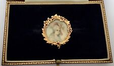 Of A Lady Circa 1800's A Wonderful Georgian Miniature Brooch