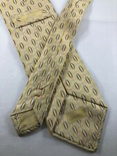 BRIONI XL Silk Tie ~ $230 X-LONG Yellow Silver Abstract Print ITALY 3413