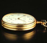 Girard Perregaux Chaux De Fonds 18K Gold Open Face Pocket Watch 46mm  Ca. 1900
