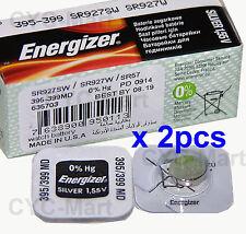 2 pedazo x Energizer 395 SR927SW Óxido de plata Pilas GRATIS POSTE Made in USA