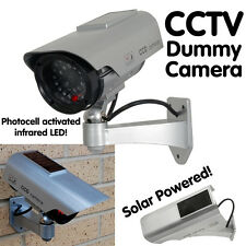 Solar Powered Dummy Camera CCTV Security Surveillance Cam Fake IR Flashing LED