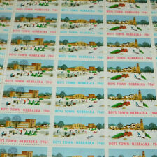 FULL SHEET BOYS TOWN NEBRASKA STAMPS FROM 1961