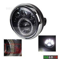 """E-mark Motorcycle 7"""" Headlight 12V LED Vision Lamps For Chopper Bobber Honda Hot"""