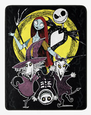 "Disney The Nightmare Before Christmas Sketch Moon Plush Throw Blanket 48""x60"""