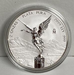 Mexico Mo 2019 LIBERTAD 2 oz onza silver Plata coin moneda bullion