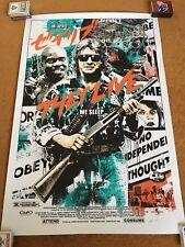 They Live Poster Print SIGNED by James Rheem Davis - Not Mondo - John Carpenter