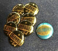 Goldwater Campaign Buttons And Tabs | New!! | Vintage Lot As Pictured