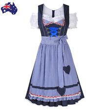 Ladies Deluxe Dirndl Oktoberfest Costume German Bavarian Beer Maid Fancy Dress