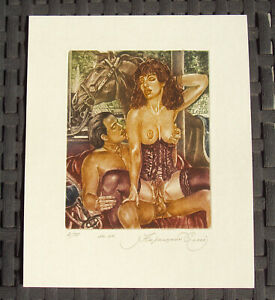 Sergey Kirnitskiy 2000 erotic ex-libris - 'Act' - handsigned, dated - numbered