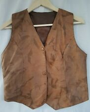 Toos Buttery Soft Lambskin Iranian Leather Lined Vest Womens size M EUC