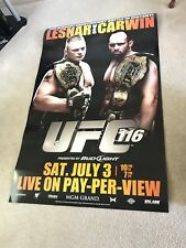 6 FEET TALL UFC 116 Official Poster Lesnar Vs. Carwin 42x66 Spencer's Display