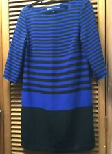 Zara blue and Black striped dress three-quarter sleeve Size XS / AU6-8