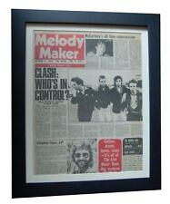 THE CLASH+RARE ORIG 1978 VINTAGE MELODY MAKER+QUALITY FRAMED+FAST GLOBAL SHIP