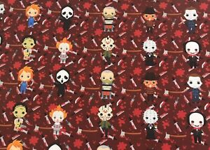 New! More Boys Of Horror Cotton Fabric 1/4 Yard 9 X 58