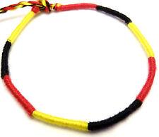 Bracelet Brésilien de l' amitié coton noir rouge jaune or Belgique Allemagne