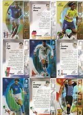 FUTERA Unique 2003 limitata lamine nuove carte di calcio mondiali PICK UR Player Rookies