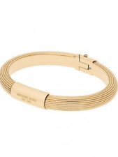 MICHAEL KORS Women's Ribbed Padlock Yellow Gold Tone Bangle Bracelet MKJ6189710