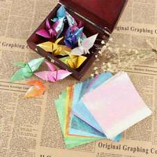50pcs Glitter Paper Sparkling Shiny Colorful Origami Lucky Bird Animal Star Boat