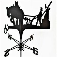 More details for traditional 'ploughing with horse' metal weathervane