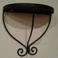 BLACK WROUGHT IRON WALL SHELF 13.5 X 7.5 X 12.5