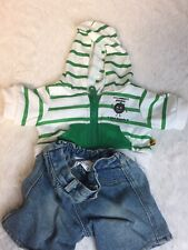 Build A Bear Workshop Girl Scout Top Jean Shorts Plush Clothes