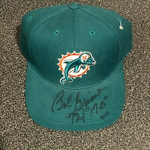 """Bob Griese Autographed Hand Signed Miami Dolphins Hat ADDED:'72 """"17-0"""""""