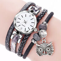 Women Girl Stainless Steel Rhinestone Bracelet Quartz Dress Wrist Watch 2019