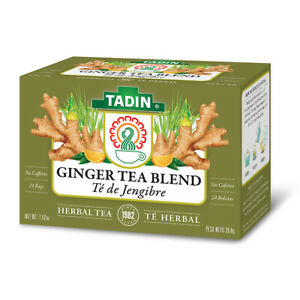 Tadin Ginger Herbal Tea. Supports a Healthy Digestion. Natural. 24 Bags. 1.02 oz