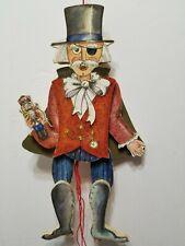 "Vintage 9"" Midwest Imports Of Cannon Falls Wooden Gentlemen Puppet Nutcracker"