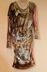 Vivienne Westwood New Wallace Collection Renaissance Salon Print Dress Size S