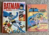 BATMAN WITH ROBIN THE BOY WONDER-Story Book Annual 1966 & BATMAN AND ROBIN-HC