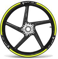 KIT STRISCE ADESIVE compatibili per CERCHI 17 MOTO MT10 YAMAHA MT-10 GIALLO FLUO