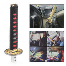 Universal 200mm Samurai Sword Gear Shift Knob Shifter Katana Metal Black & Red