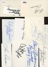 LOT (13) Football Signed Index Cards AUTO Autograph w/ HOF's #3