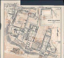 PRIMI 900 R@R@ CARTINA GEOGRAFICA DI ROMA DEI TEMPLI MONS PALATINUS