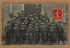 Cpa Carte Photo militaire 37e RI régiment infanterie de Nancy / Troyes m0244