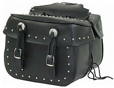 MEDIUM SIZE MOTORCYCLE SADDLEBAGS w/STUDS UNIVERSAL 4 HARLEY-HONDA-INDIAN-SUZUKI
