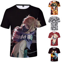 My Hero Academia T-shirt Short Sleeve Summer Polyester 3D Tops Tee Crew Neck