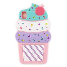 Cute 3D Cherry Ice Cream Silicone Soft Case Cover Sony Xperia Z5 M5 M4 C4 C5 XA