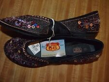 Route 66 Footstar, hippie bling beaded slip on women's shoes 8.5 Arabian Costume