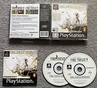 Final Fantasy Anthology PS1 PS2 PS3 PAL Black Label