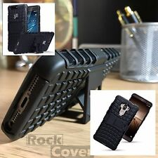 Huawei Mate 10 Lite Rugged Military V CASE Survival Rock Cover Black