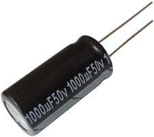 10x Condensateur électrolytique chimique 1000µF 50V THT  2000h Ø12.5x25mm radial